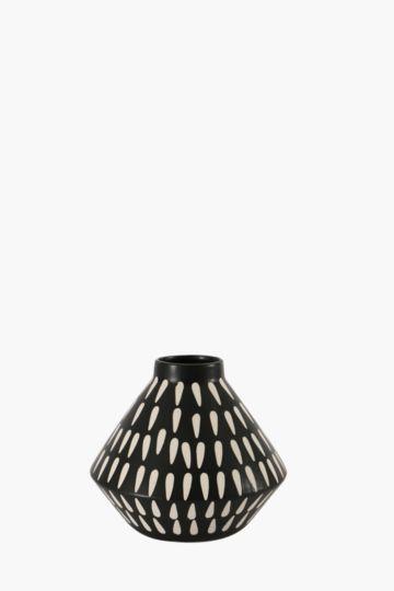 Facet Belly Vase