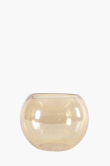 Iridescent Amber Fish Bowl Large