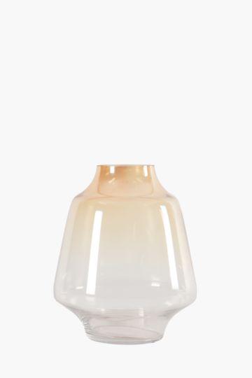 Iridescent Amber Belly Vase