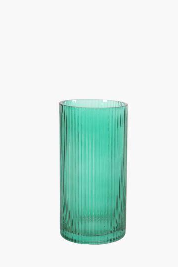 Ribbed Cylinder Vase