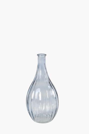 Ribbed Drop Bottle Vase