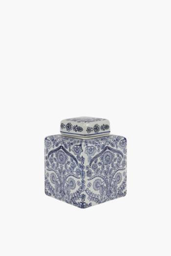 Delft Floral Tea Caddy