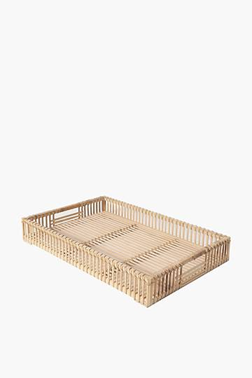 Rattan Weave Decor Tray