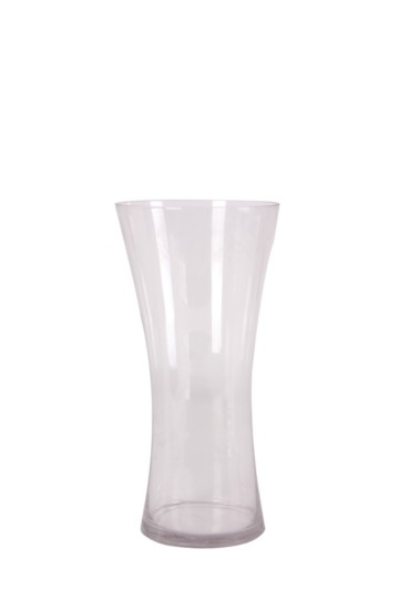 Hour Glass Clear Vase