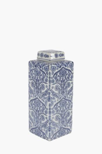 Delft Floral Ginger Jar