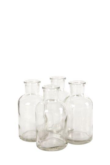 Pack Of 4 Glass Bottles