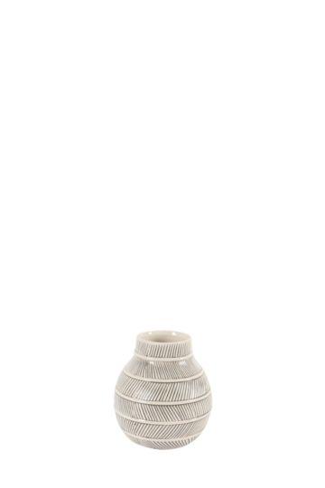 Tribal Textured Ceramic Bud Vase