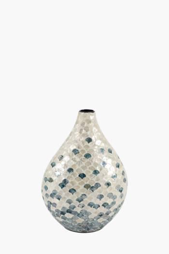 Capiz Ceramic Vase Medium