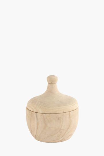 Wooden Deco Jar