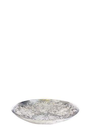 Metal Embossed Floral Bowl