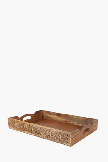 Carved Wood Tray, Large