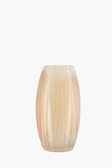 Iridescent Amber Bulb Vase
