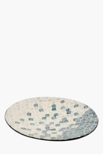 Capiz Ceramic Decor Tray