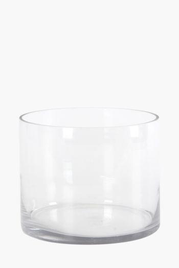 Cylinder Glass 25x20cm Vase