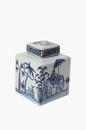 Wildling Delft Tea Caddy