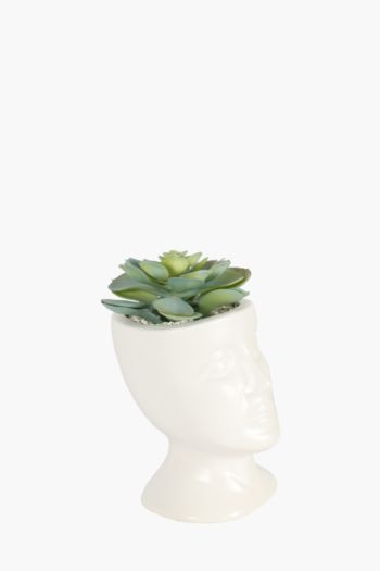 Succulent In Ceramic Head