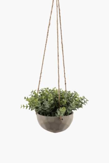 Hanging Gum Leaf In Cement Pot