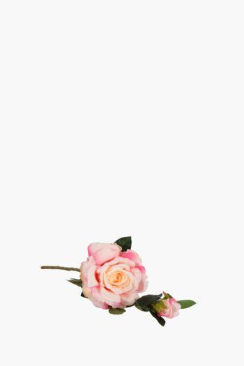 2 Rose Buds on Single Stem