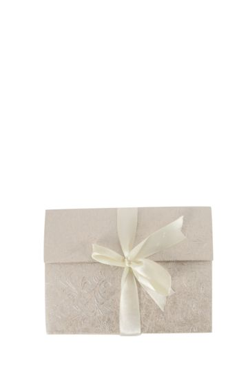 Handmade Embossed Notebook With Ribbon