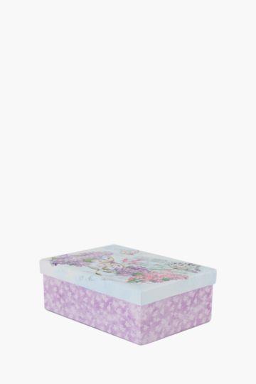 Floral Glitter Box Small