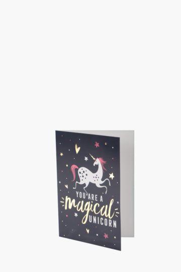 Magical Unicorn Card A6
