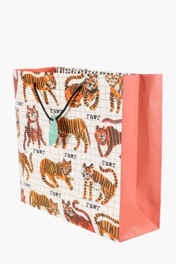 Tiger Print Bag Large