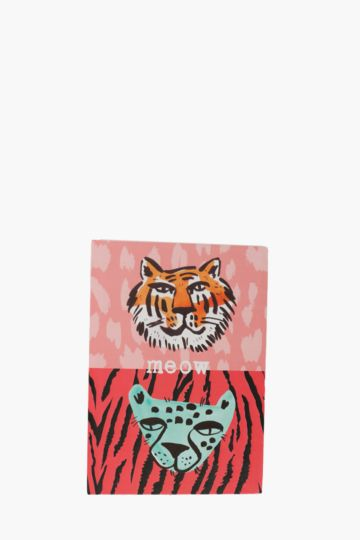 Tiger Print Notebook A6