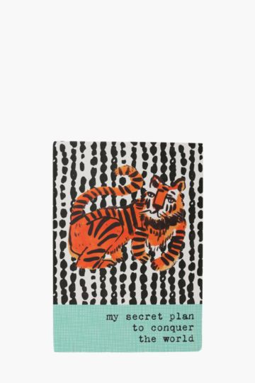 Tiger Print Notebook A4