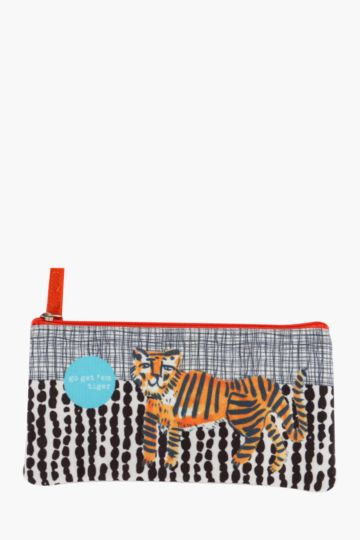 Tiger Print Pencil Case