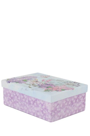 Floral Glitter Box Medium