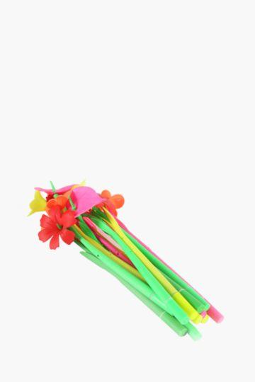 Pack Of 12 Bright Flower Pens
