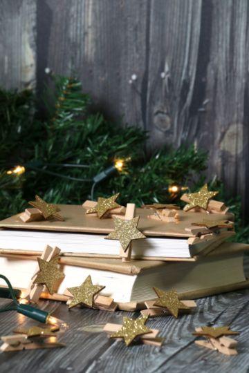 12 Christmas Star Pegs