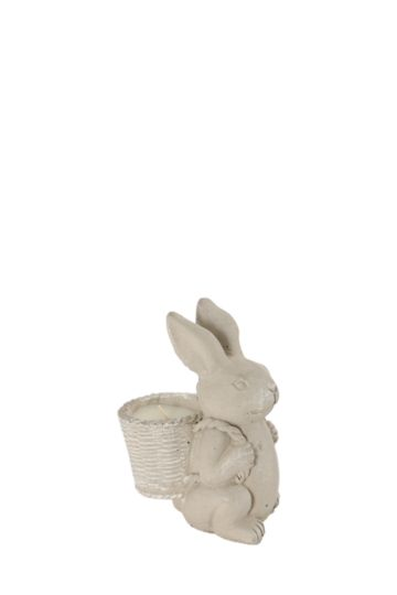 Bunny With Basket Wax Fill Candle