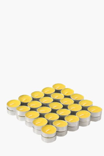 Pack Of 50 Citronella Tealight Candles