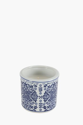 Delft Ceramic Wax Fill Candle