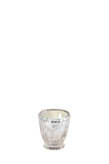 Wax Fill Glass Footed Candle