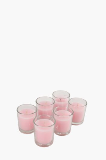 6 Glass Wax Fill Candles