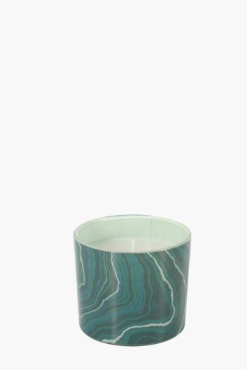 Marble Glass Wax Fill Candle