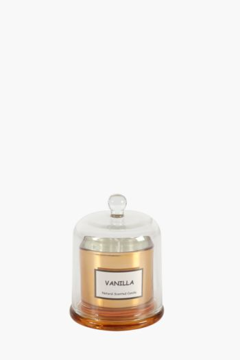 Glass Dome Metallic Wax Fill Candle