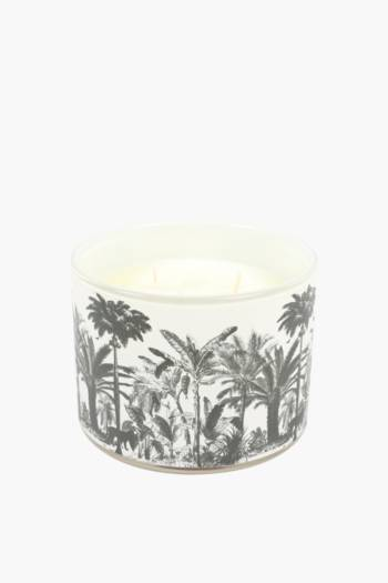 Decal Glass Waxfill Candle Large