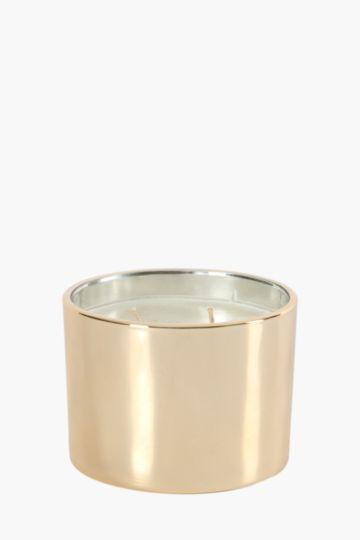 Metallic 2 Wick Wax Fill Candle