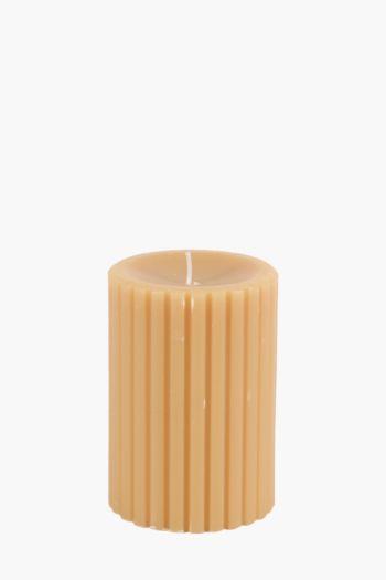 Ridge Pillar Candle, 7x10cm
