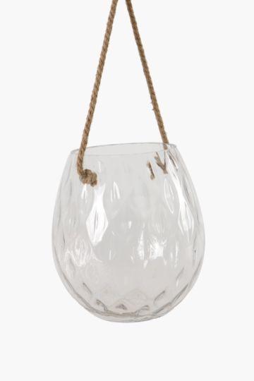 Dimple Glass Hanging Lantern