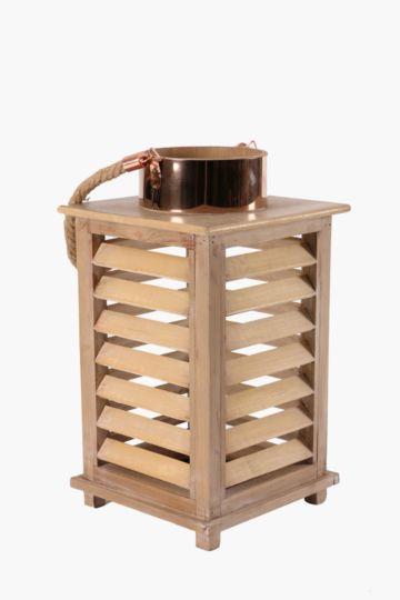 Wood And Metal Trim Lantern