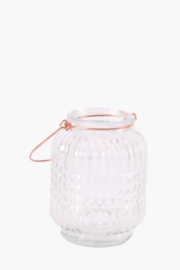 Ribbed Mini Hanging Tea Light Holder