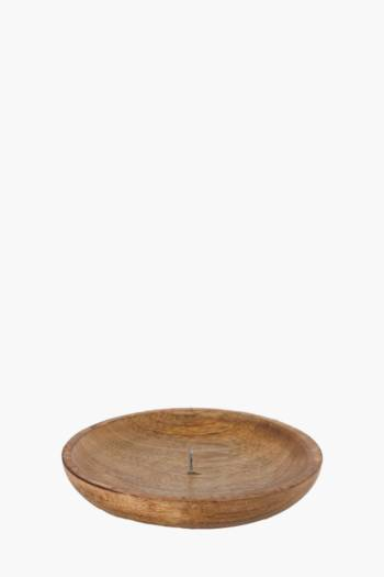 Wood Candle Plate