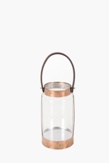 Metal Trim Glass Lantern