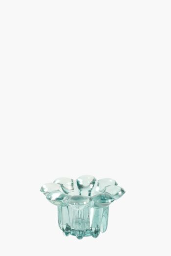 Glass Flower Votive Holder