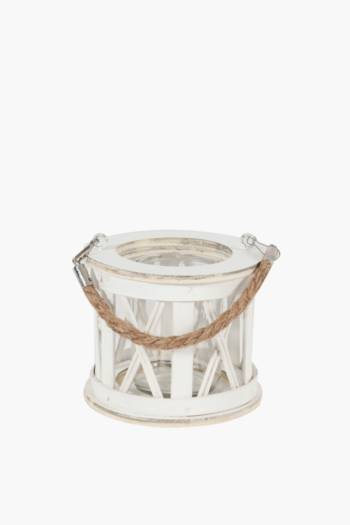 Wash Wood Lantern Small