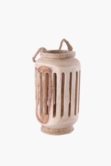 Raw Wood Lantern Large